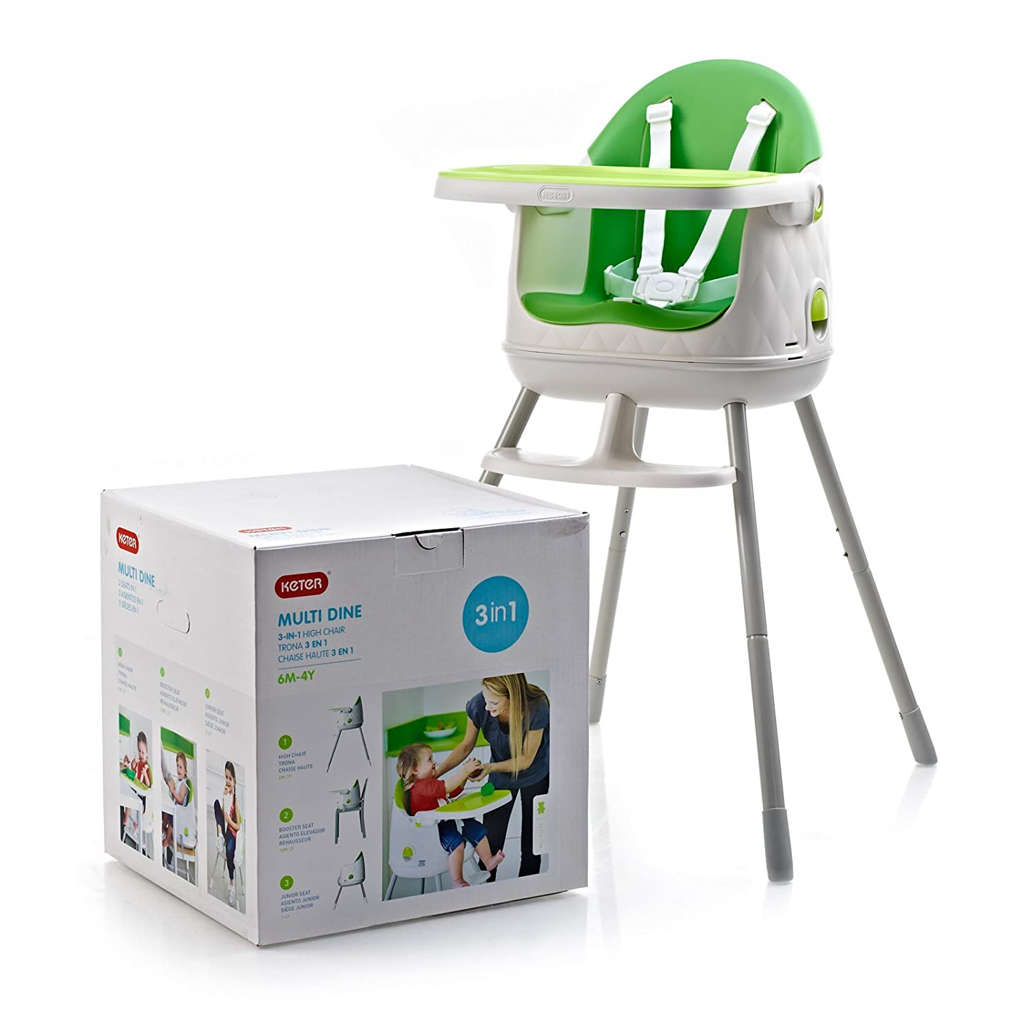 Incredible Keter Multi Dine Baby Child Infant Portable High Feeding Chair Booster Seat Green Pabps2019 Chair Design Images Pabps2019Com