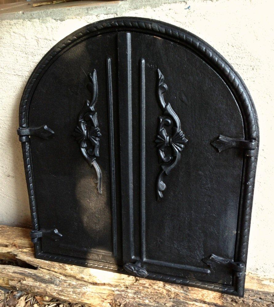 Antikas - Tür, Holzbackofen, Brotofen Pizzaofentür, Lehmofen Guss hochwertge Ofentür