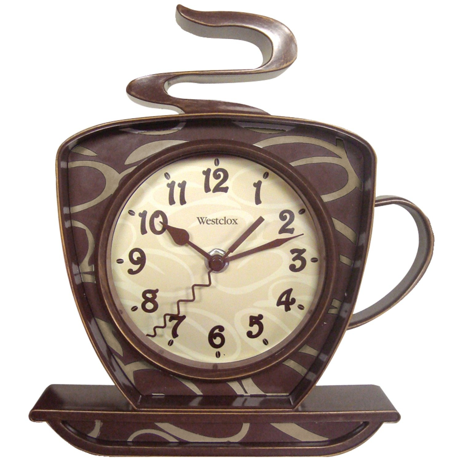 amazoncom westclox 32038 coffee time 3 d wall clock kitchen dining