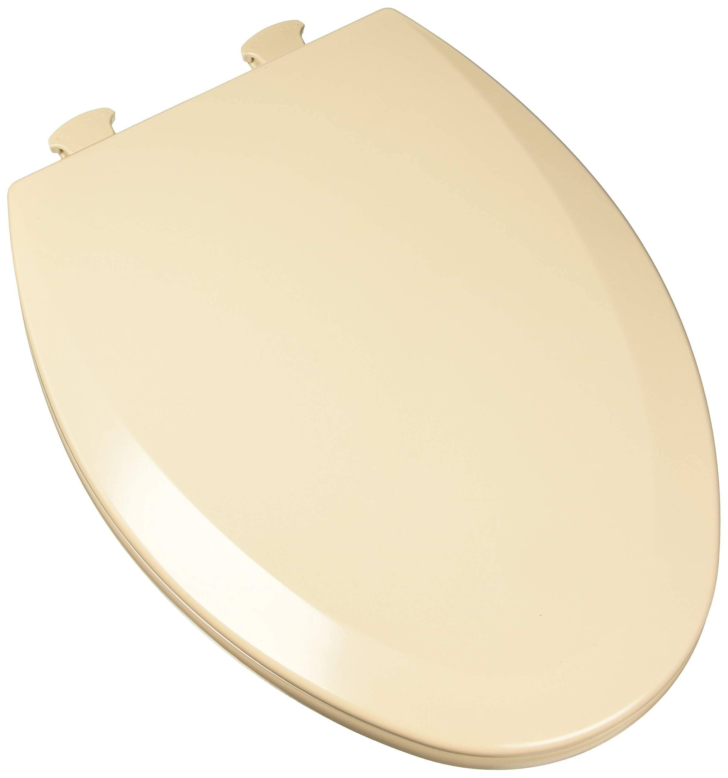 Bemis 1500EC068 Molded Wood Elongated Toilet Seat With Easy Clean and Change Hinge Fawn Beige