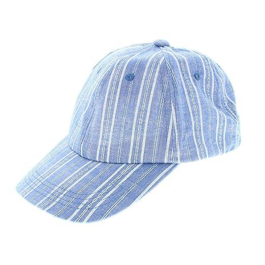 Amazon.com  INC Womens Striped Casual Ball Cap Blue O S  Clothing 40fa6e71fbf6