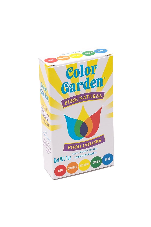 Amazon Com Color Garden Pure Natural Food Colors Multi Pack 5 Ct