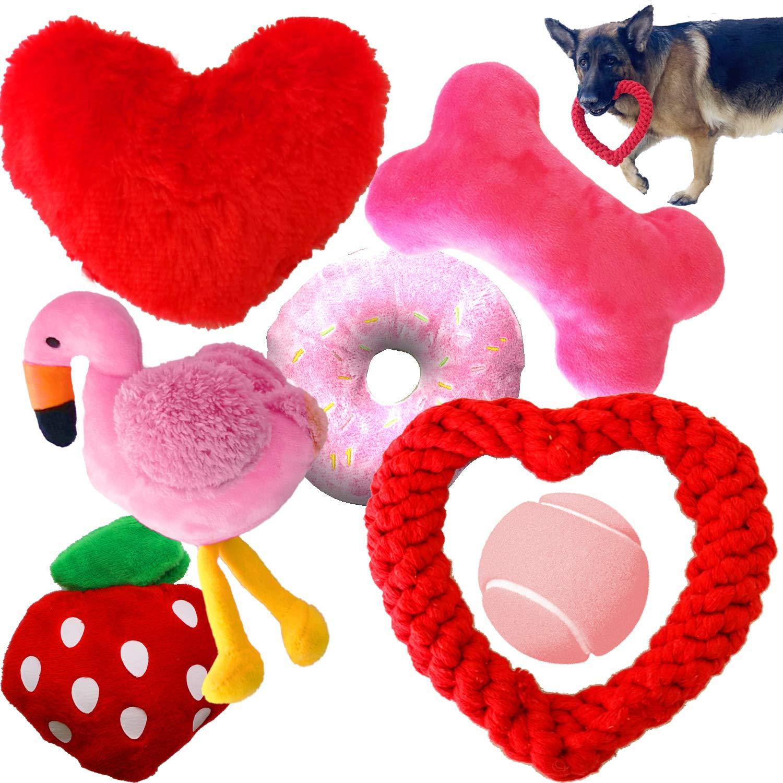 Jalousie Dog Toys Dog Gift Dog Birthday Toy Dog Squeaky Toy Dog Rope Toy Dog Plush Toy for Small Medium Large Dogs…