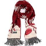 Mai Poetry Women Men Winter Fashion Snowflake Deer Scarves Scarf Wrap Best Gift (Red)