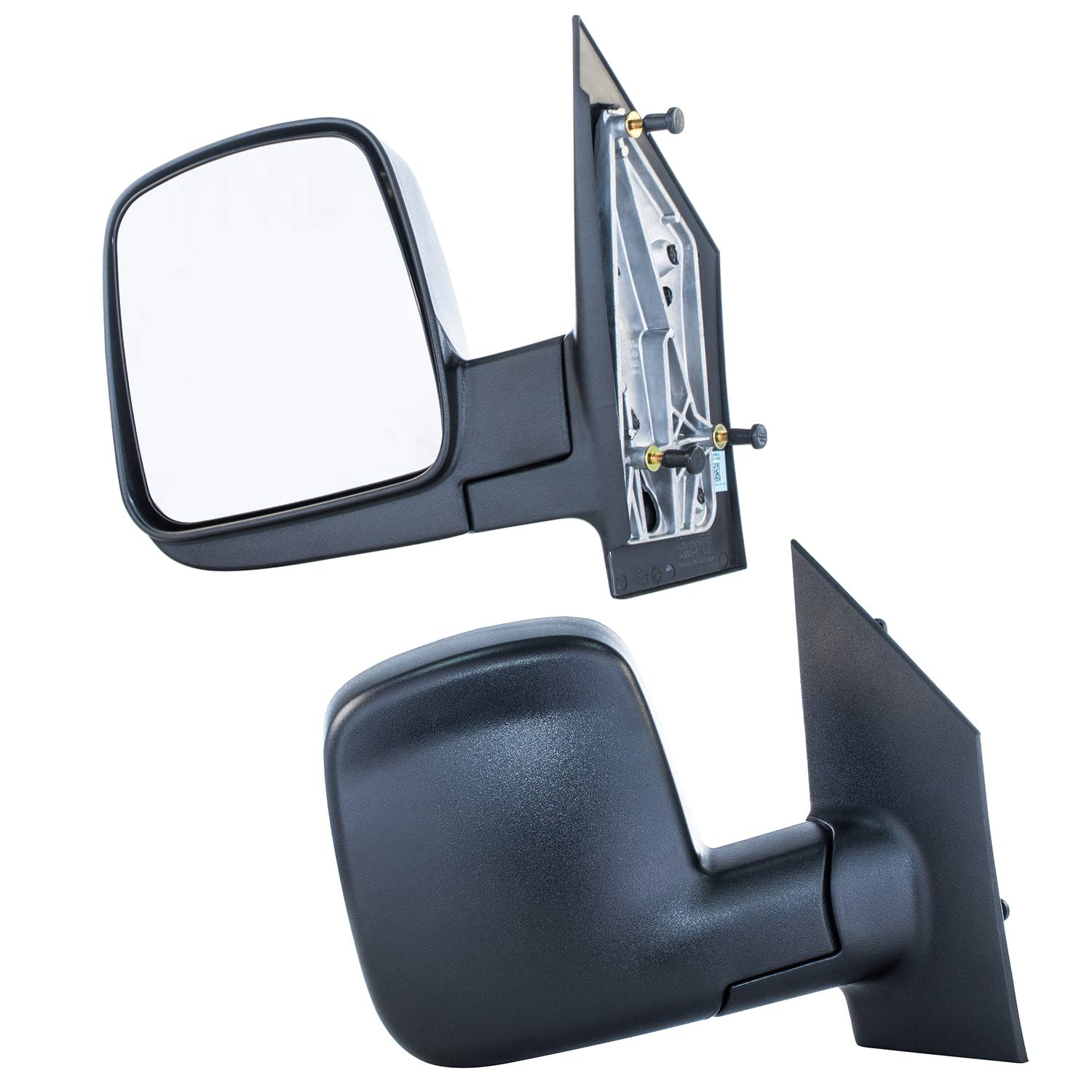 Driver and Passenger Side Door Mirrors for Chevy Express GMC Savana Textured Non-Heated Manual Folding (2003 2004 2005 2006 2007 2008 2009 2010 2011 2012 2013 2014 2015 2016 2017)