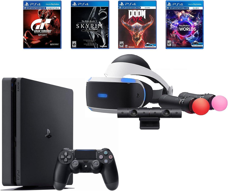 Playstation 4 Slim Bundle (6 artículos): PS VR Starter Bundle, PS4 ...