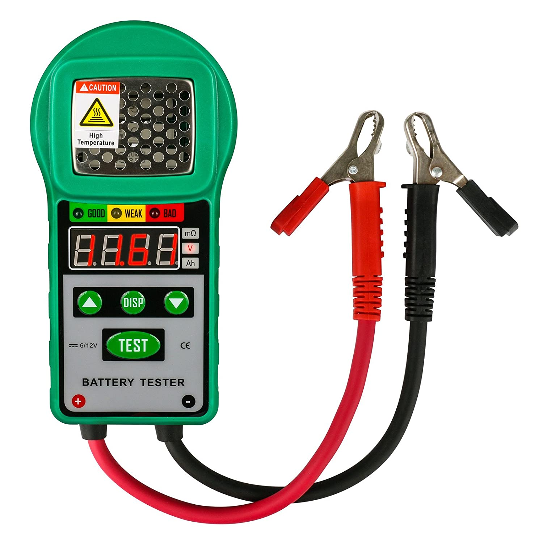 Automotive Battery Tester 6V / 12V Digital Battery Analyzer Lead-acid Accumulators Automotive Battery Load Tester for UPS Battery, Solar Energy Storage Battery, Marine Battery(20A 5Ah ~ 80Ah)