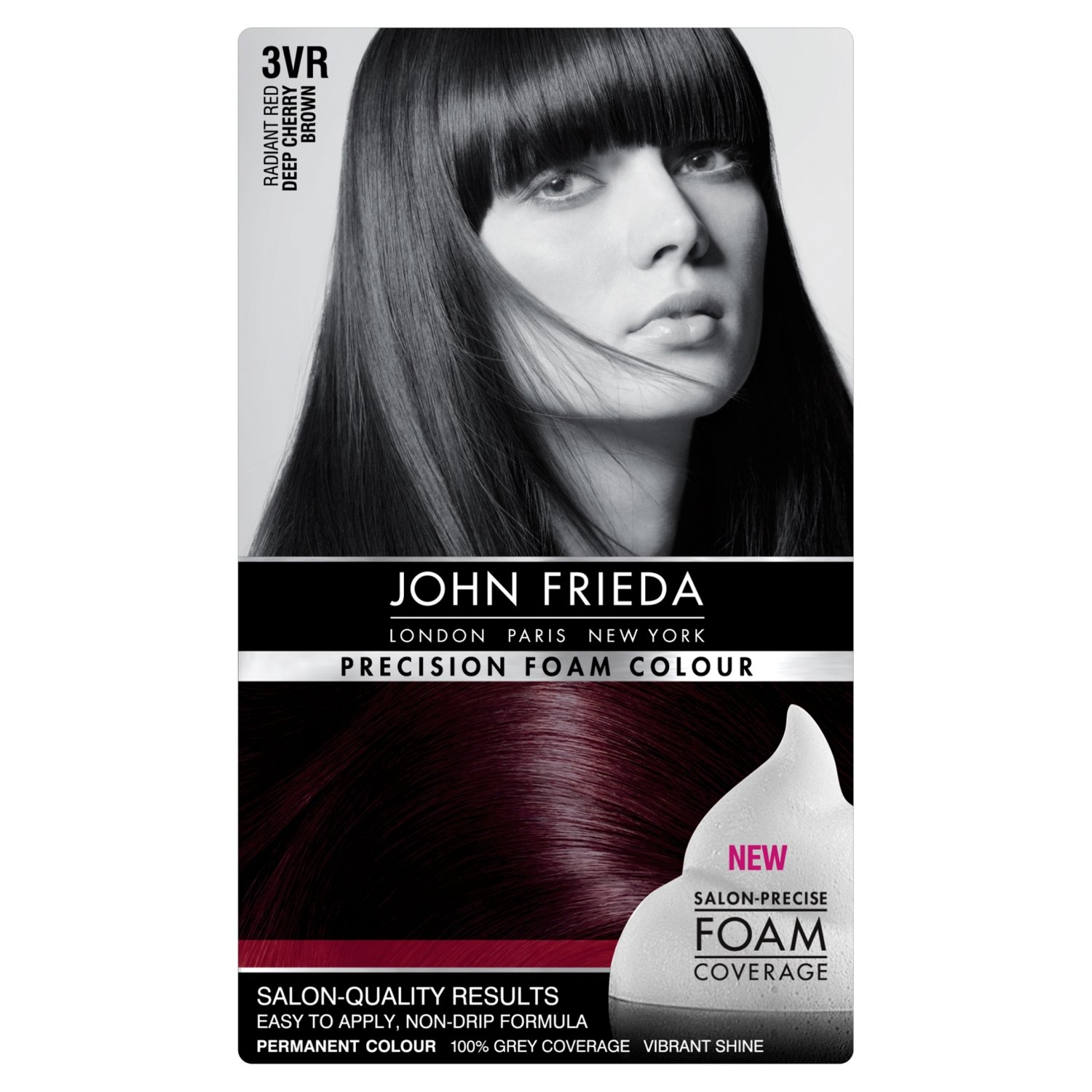 Amazon.com: John Frieda Precision Foam Colour 3Vr Deep Cherry ...