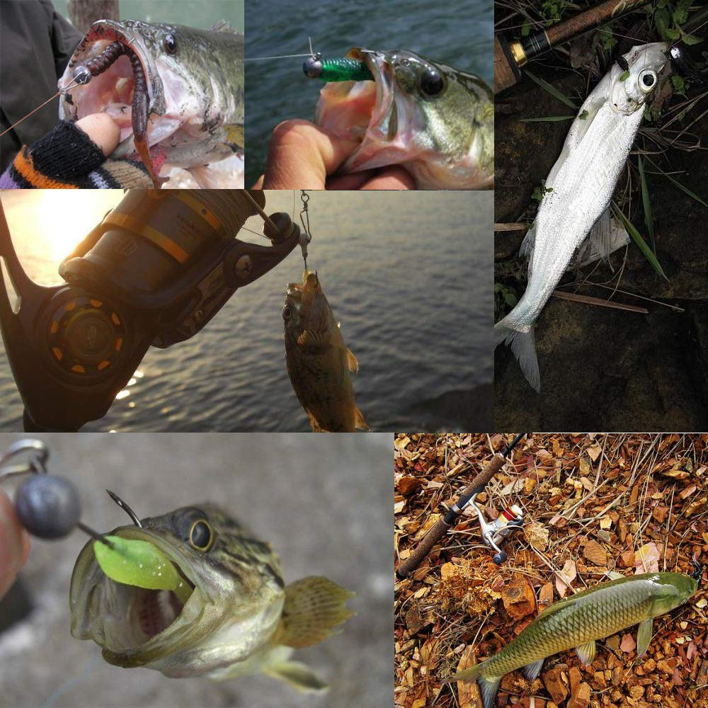 Goture Jig Hooks Set Kit With Fishing Tackle Box Fish Head Hooks (1g 50PCS)