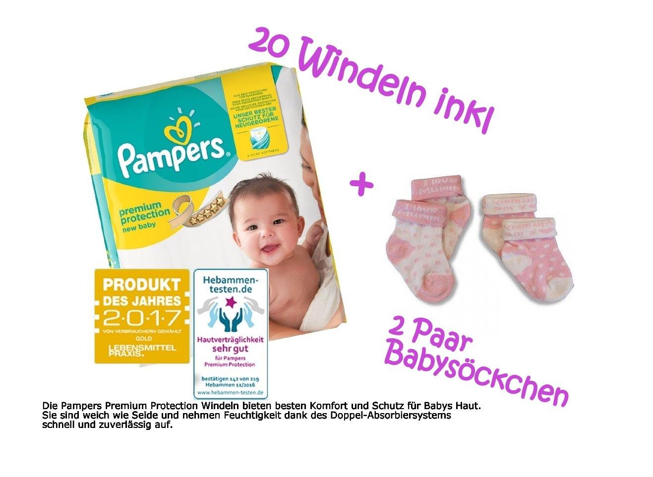 Geschenk zur Geburt dubistda Windeltorte M/ädchen rosa Rosenbl/üte 24-teilig