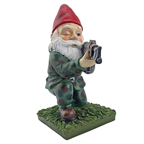 Military Garden Gnome With An AK47 | Funny Army Statue, Perfect For Gun  Lovers,
