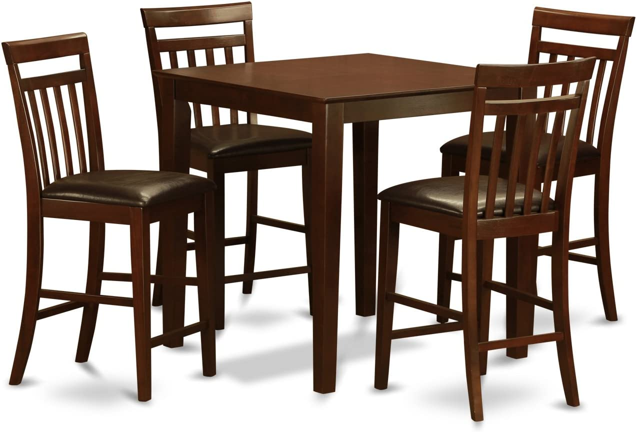 VNEW5-MAH-LC 5 Pc Counter height Table-counter height Table and 4 Dinette Chairs.