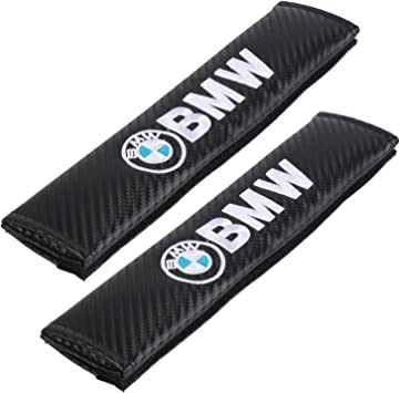 Blac 1J 2 Car Seat Belt Comfort Pads with Hook and Loop Seatbelt Strap Cover