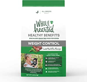 WholeHearted Healthy Benefits Weight Control Lamb and Pea Recipe Dry Dog Food, 5 lbs.
