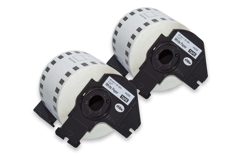 QL-720NW como DK-44205. QL-710 QL-710W vhbw 5x Rollo de etiquetas adhesivas premium 62mm para Brother P-Touch QL-650TD QL-720 QL-700