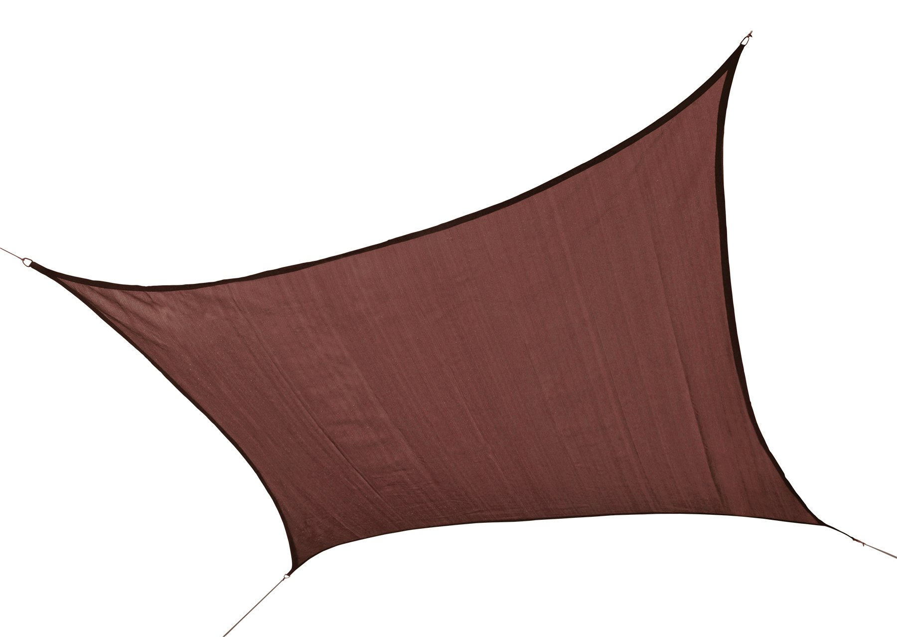 ShelterLogic 25673 230 GSM Square Shade Sail, 16-Feet, Terracotta