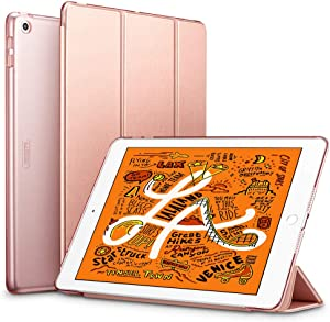 "ESR for iPad Mini 5 Case 7.9"" 2019 [A2133/A2124/A2126/A2125], Yippee Trifold Smart Case Auto Sleep/Wake, Lightweight Stand Case Hard Back Cover for iPad Mini 5th Gen, Rose Gold"