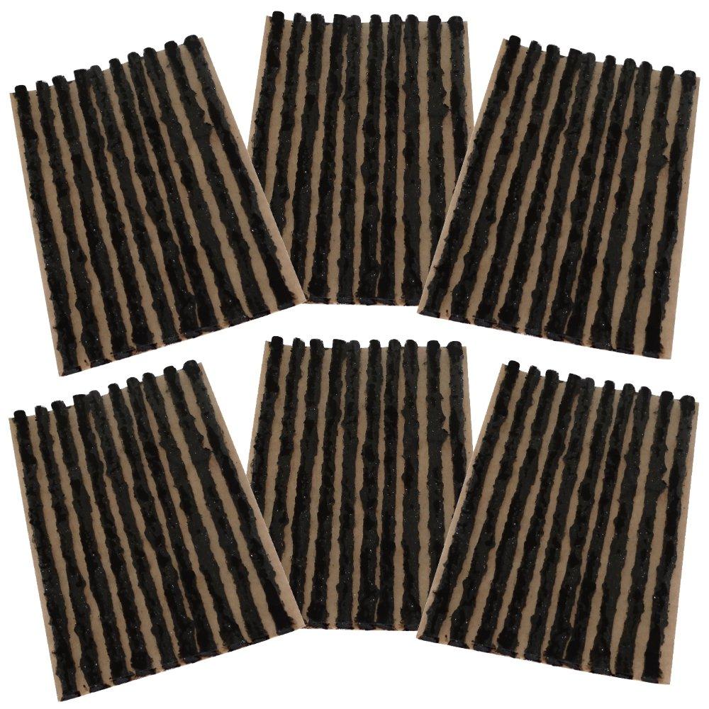 AERZETIX: Lot de 60 mèches 4mm 10cm Noir pour kit de réparation de Pneu