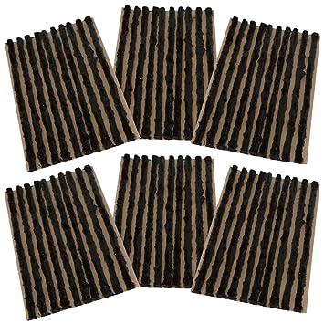 AERZETIX: Juego de 60 mechas 4mm 10cm Negro para Kit de reparacion de neumaticos C40655: Amazon.es: Coche y moto
