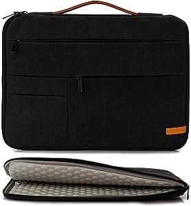 KINGSLONG 17 17.3 Inch Laptop Sleeve Case Bag, Slim Lightweight Laptop Computer Notebook Ultrabooks Carrying Case Handbag Cover for Men Women Fit for Acer Asus Dell Lenovo HP Toshiba ect, Black