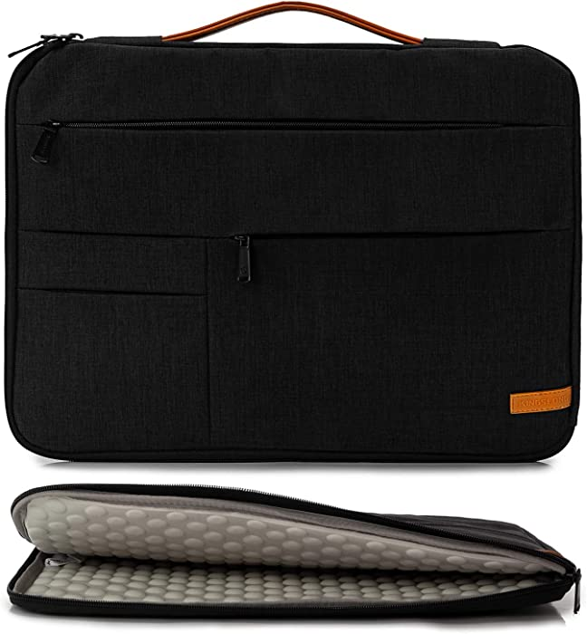 KINGSLONG 17 17.3 Inch Laptop Sleeve Case Bag, Slim Lightweight Laptop Computer Notebook Ultrabooks Carrying Case Handbag Cover for Men Women Fit for Acer Asus Dell Lenovo HP Toshiba ect, Black