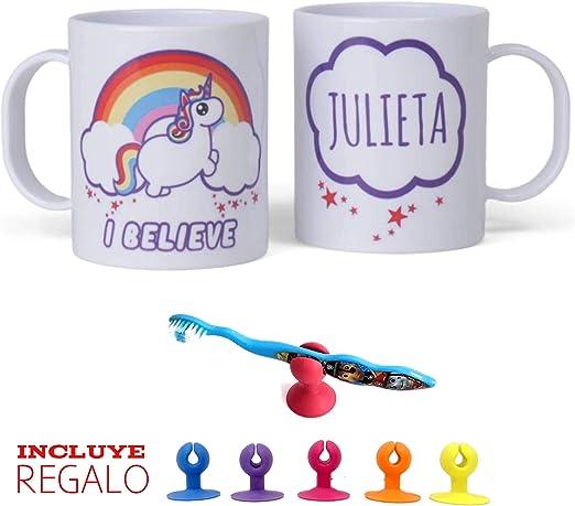 Unicornio taza PERSONALIZADA con nombre , bonito regalos ...