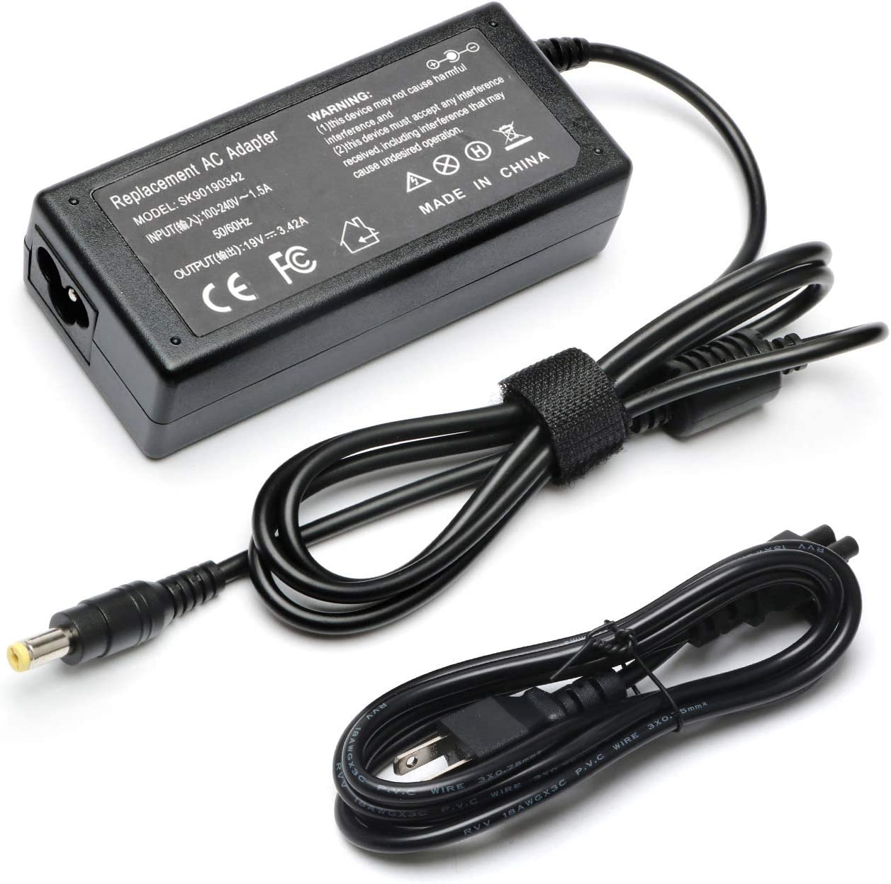 65W AC Adapter Laptop Charger for Acer Aspire 5532 5349 5250 5253 5733 5534 5336 5552 5560 560 SB416 AS7750 6423 E15 V5 V3 R14 R3 R7 M5 S3 E1 ES1 G276HL GN246L Series Power Supply Cord-19V 3.42A
