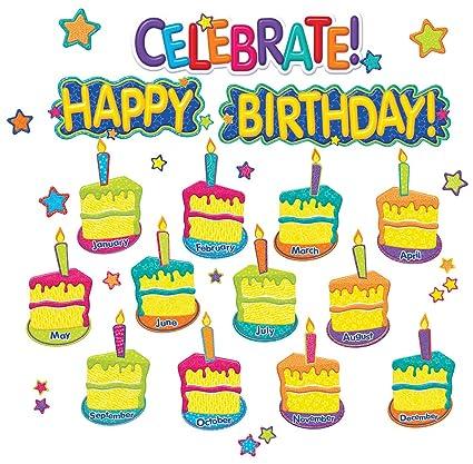 Amazoncom Eurekas Celebrate And Happy Birthday Bulletin Board