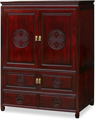 ChinaFurnitureOnline Rosewood Asian Tv Armoire