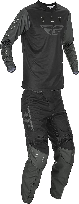 Fly Racing Youth YL Black//Grey F-16 Jersey and Pants Combo Kit 2021 Dirt Bike ATV MX SxS UTV
