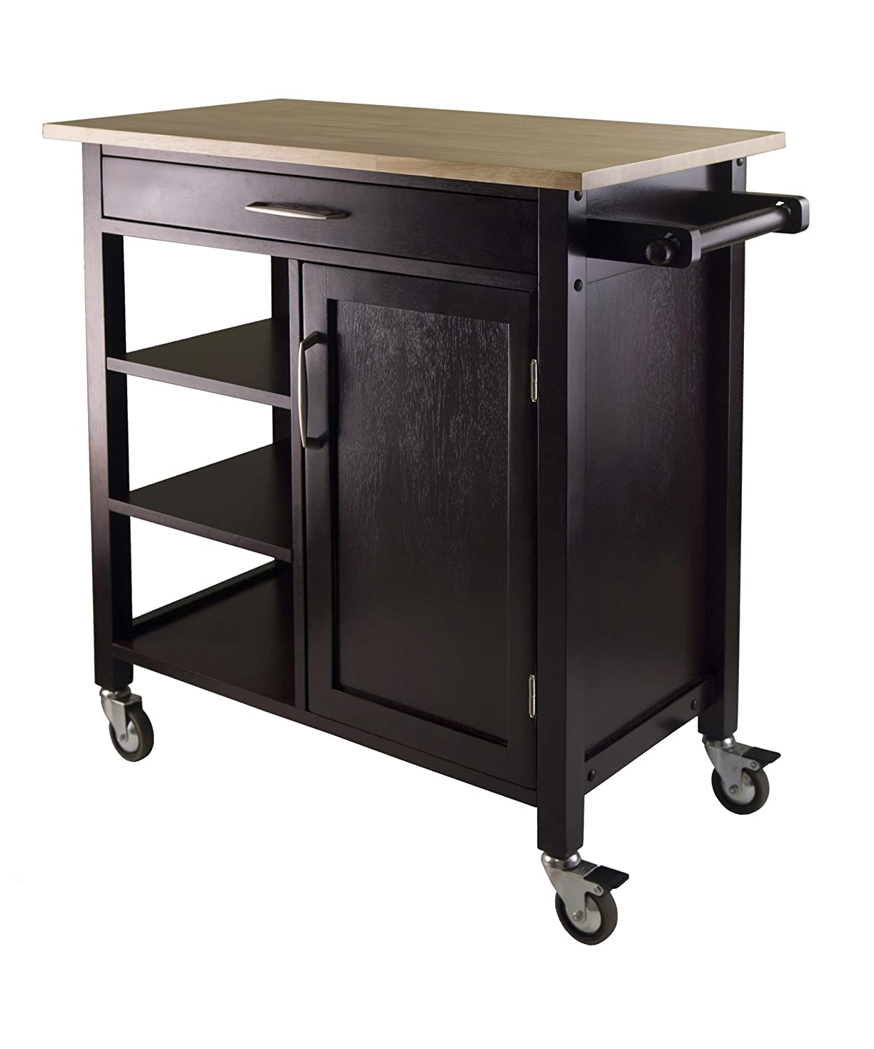 nice Amazon Kitchen Island Cart #1: Winsome Mali Kitchen Cart