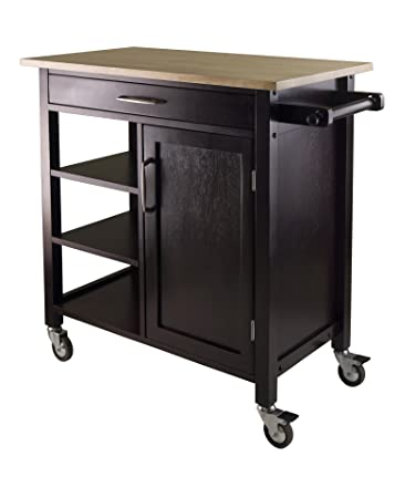 winsome mali kitchen cart amazon com   winsome mali kitchen cart   bar  u0026 serving carts  rh   amazon com