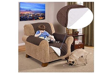 BES Cubre sillón Reversible de Doble Color Que Protege de ...