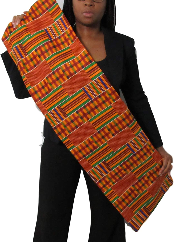 Kente African Print Fabric Cotton 44 Wide Head wrap Head tie Scarf Choir African Dance Black History Month African American Men Women Kids 1 Yard Serengeti Fabric African Kente Print #3