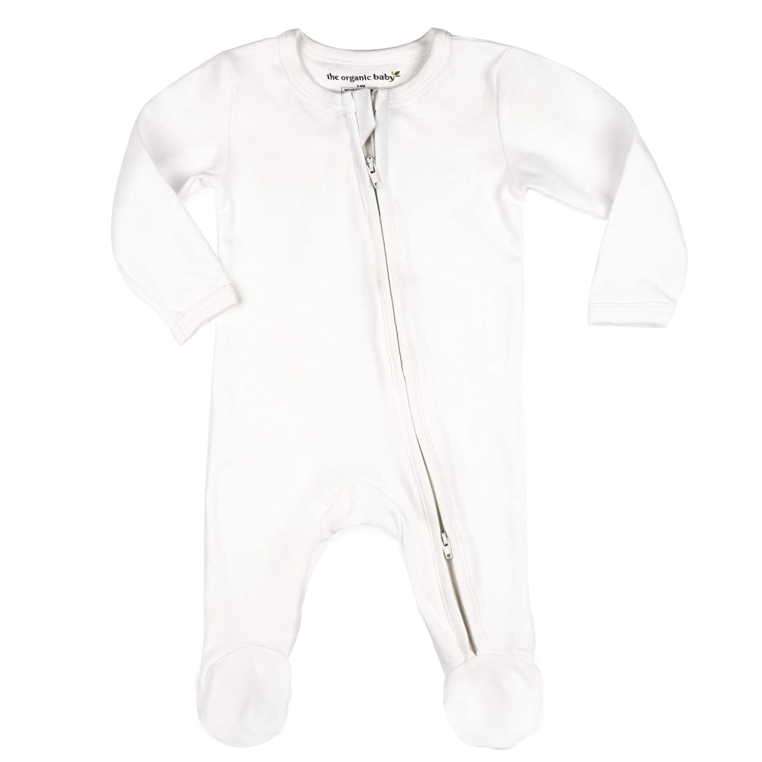100% GOTS Organic Cotton Baby Boy Girl Sleep 'N Play Footed Long Sleeve Onsie, Unisex, Pajama Sleeper (NB-18M)