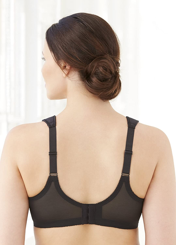 Glamorise Womens Full Figure MagicLift Plus Size Seamless Wirefree Back Close Sports Bra #1006