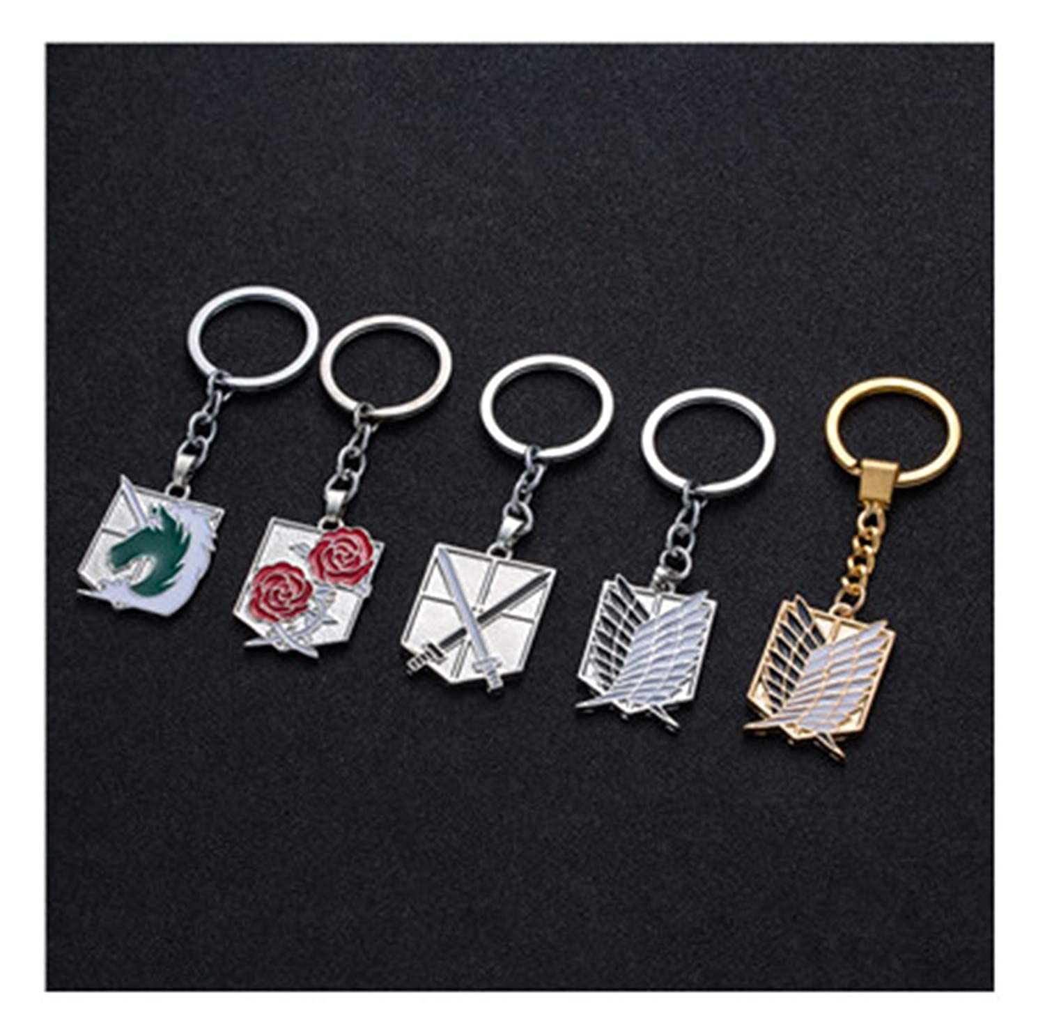 Amazon.com: Anime Keychain Pendant Necklace Stainless Steel Key Chain Holder Cover Charms For Motorcycle Car Keys Badge 1: Clothing