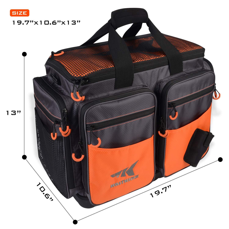 KastKing Fishing Tackle Bags – Large Saltwater Resistant Fishing Bags – Fishing Gear Bags – Waterproof Fishing Tackle Storage Bags – 3600 3700 Tackle Box
