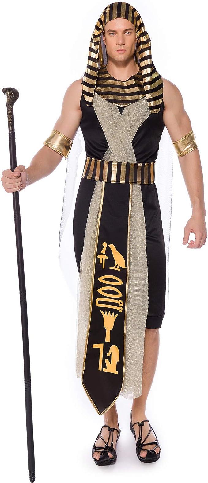Disfraz De Cosplay King para Hombre, Faraón Egipcio Rey Traje ...