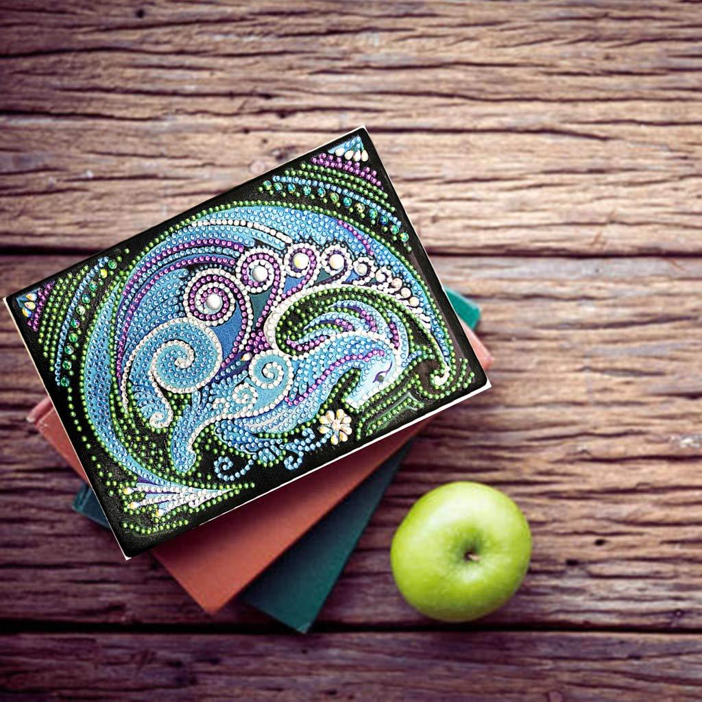 Dragon DIY Diamond Painting Special Shape A5 Notebook Diario Libro Ricamo Art