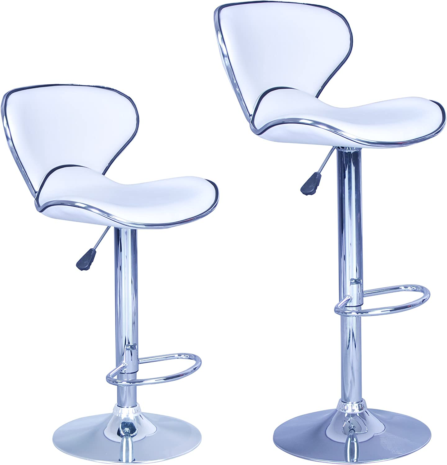 Stool Swivel Bar Stools Counter Height Stools PU Leather Kitchen Stools Dining Chairs With Back