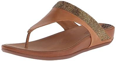 ed4a013433e8 Fitflop Women s Banda Micro Crystal Toe Post Flip Flop