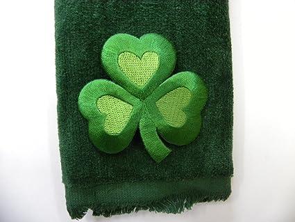 Amazon st patrick s clover hand bath fingertip towel green