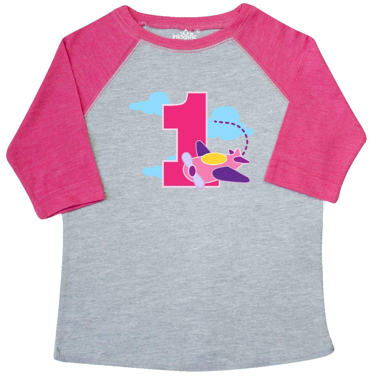 inktastic 1st Birthday Pilot Airplane Toddler T-Shirt