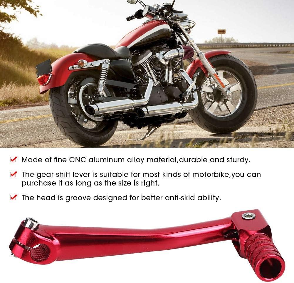 Schalthebel Universal Motorbike Modification Zubehör Cnc Aluminium Alloy Schalthebel 150x65mm Rot Auto