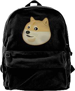 Doge Travel Laptop Backpack Large Canvas Backpack Basic Strong Wear Notebook