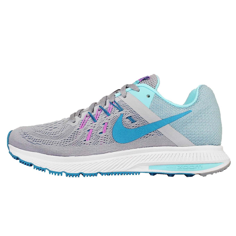 4ab70e49a437 Nike Women s Zoom Winflo 2 Running Shoe WOLF GREY BLUE LAGOON-COPA-FUCHSIA  GLOW 8 B(M) US  Amazon.in  Shoes   Handbags