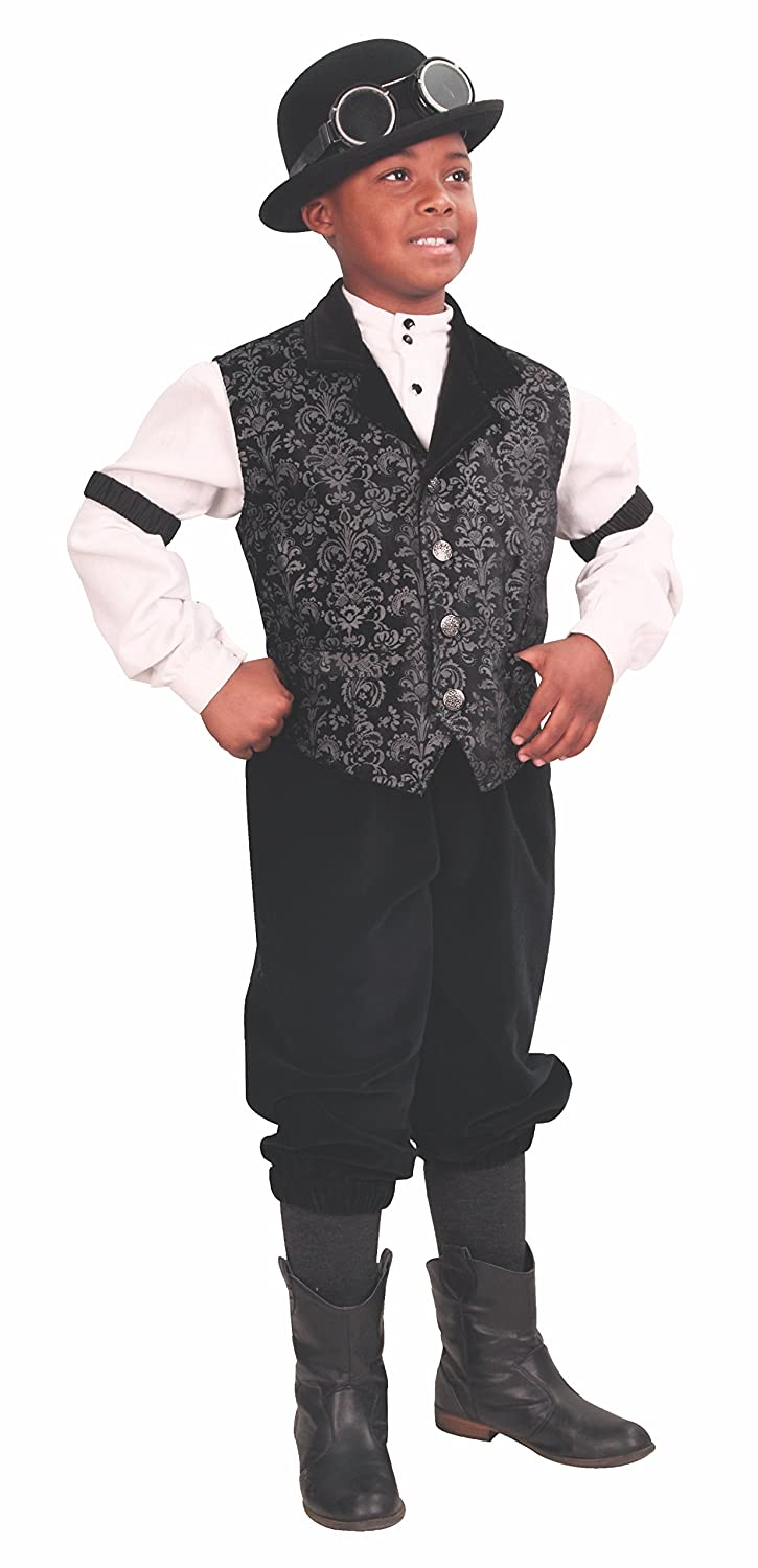 Steampunk Kids Costumes | Girl, Boy, Baby, Toddler Hyde Street Vest for Boys $64.00 AT vintagedancer.com