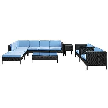 Amazoncom Modway La Jolla Piece Outdoor Rattan Espresso With - La jolla patio furniture