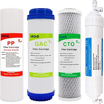 Water Purifier Filter Cartridges Replacement 10 inch T33 Inline Sediment Filter